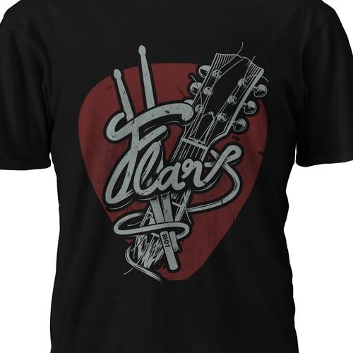 Rock band T-shirt design Design by Riskiyan W