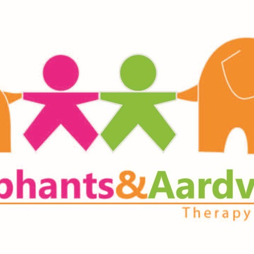 Elephants and Aardvarks helping sick kids in playful fun way. Design by valeriezloty