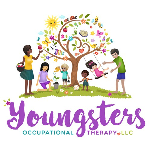 Family-centered children's therapy business needs a creative design Design by agnes design