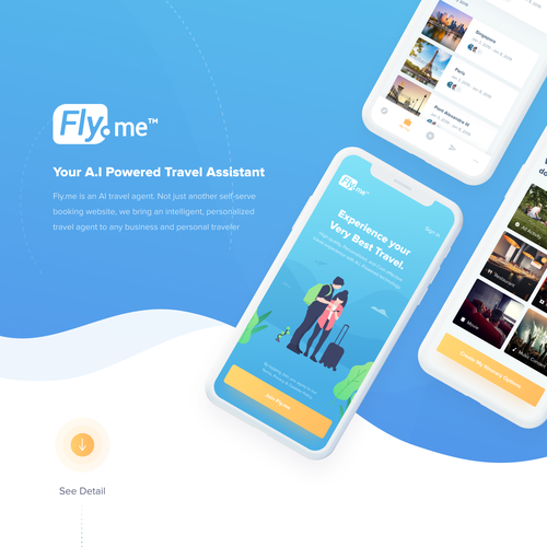 Design a Premier, A I  Travel App | App design contest