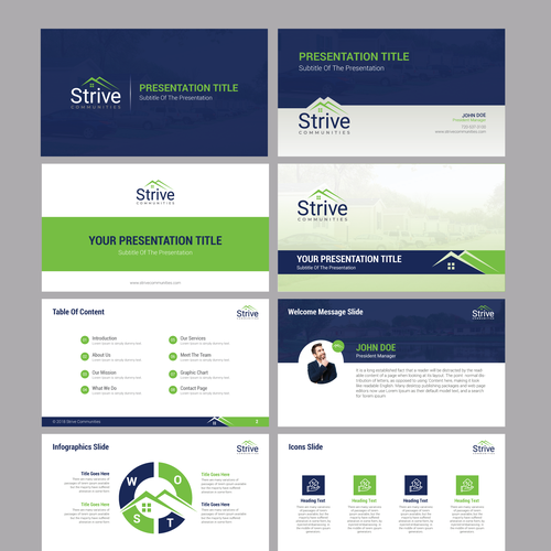inspiring powerpoint template contests 99designs