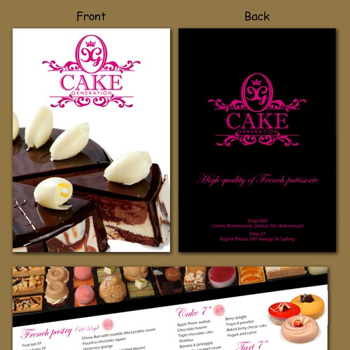 New postcard or flyer wanted for Cake Generation Design by CountessDracula