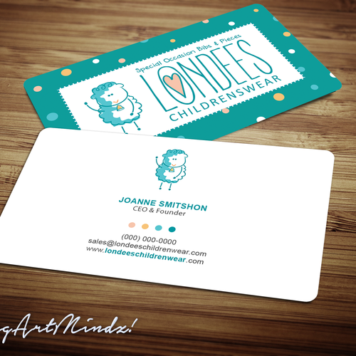 Create business card for luxury online baby boutique Design by oeingArtMindZ