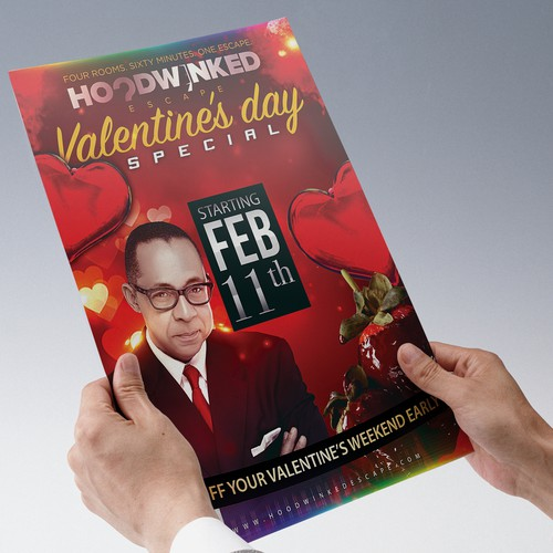 Create a captivating Valentine's Day Flyer for Hoodwinked Escape Design by JimGraph