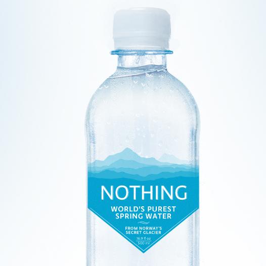 premium water bottle label redesign product contest