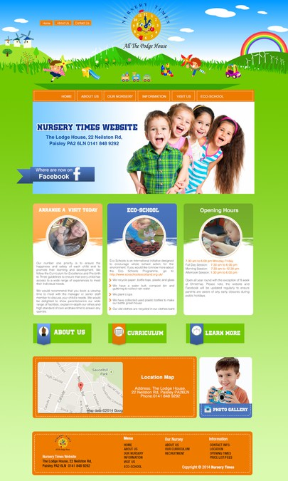 Children S Nursery Website Design Web Page Contest