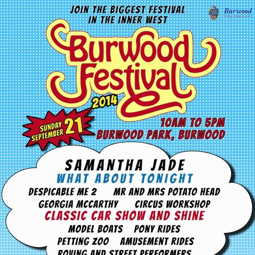 Burwood Festival SuperHero Promo Poster Design by AlinaAv