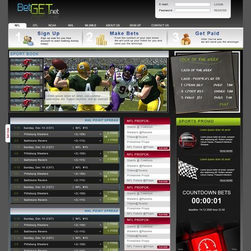 sports site design betting for fun