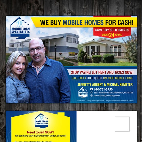 Mobile Loan Specialists needs a new postcard, flyer or print ... on for rent mobile homes, rent to own mobile homes, platinum mobile homes, vintage mobile homes,