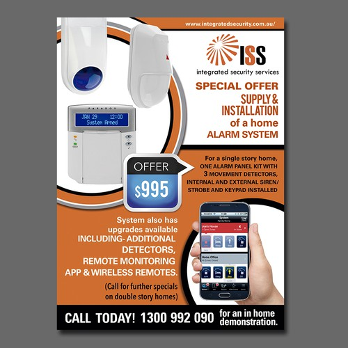 create a sales flyer for security alarm special