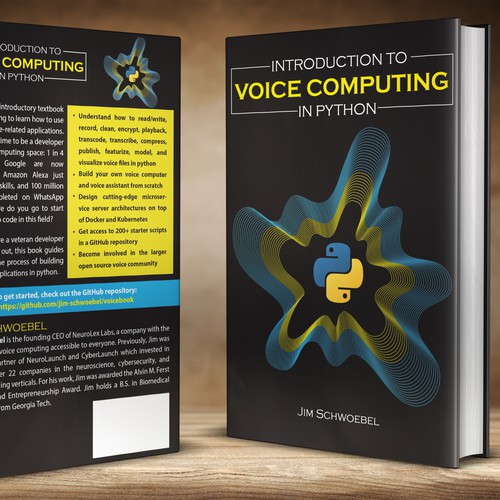 Design a book cover connecting voices with computers | Book