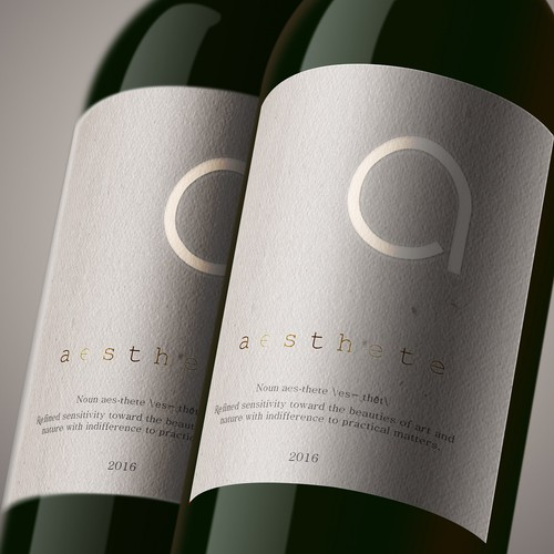 Minimalistic wine label needed Design by Mida Strasni
