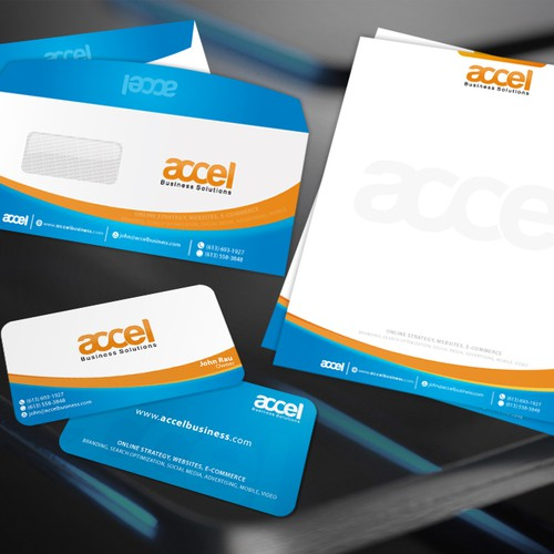 Business card letterhead report template and envelope for accel entries from this contest cheaphphosting Image collections