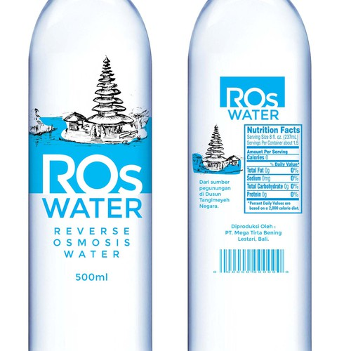 Design a Mineral Water Bottle Label | Product label contest
