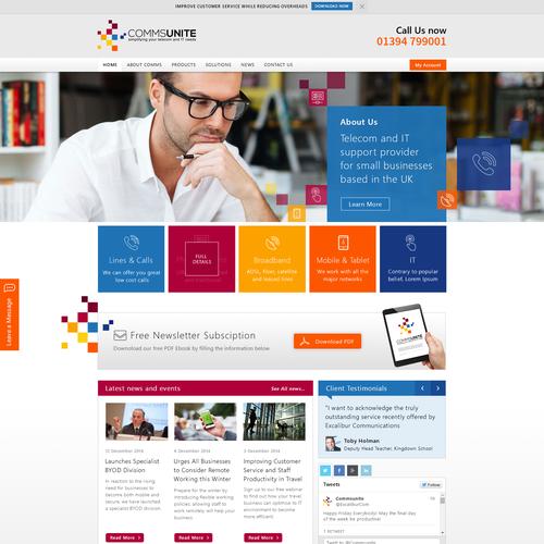 Exciting Fresh Tech Company Web Design Web Page Design Contest 99designs