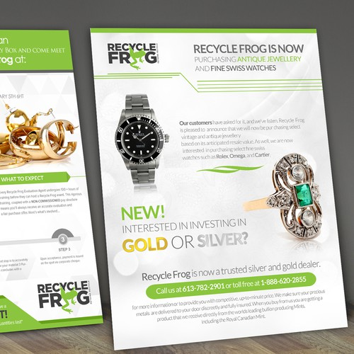 Recycle frog flyer redesign postcard flyer or print for Recycle and redesign ideas
