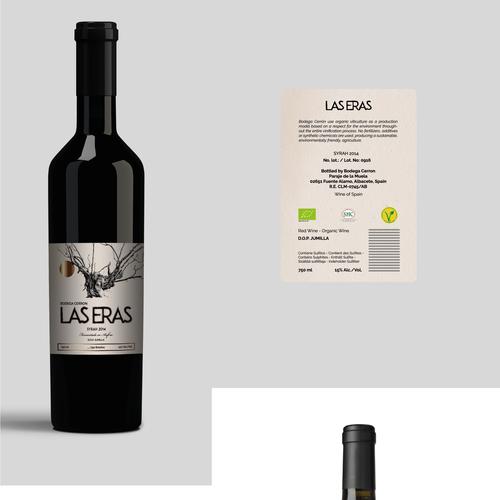 ORGANIC EXCLUSIVE WINE LABEL DESIGN - BODEGA CERRON Design by OtomPotom