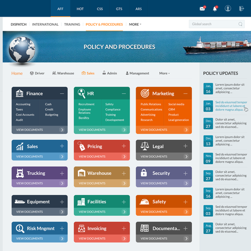 Design A Transportation Sharepoint Intranet Homepage Simple And Attractive Web Page Design Contest 99designs