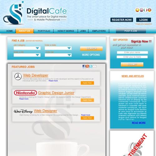 Ontwerp van finalist Diseño Web Caminito