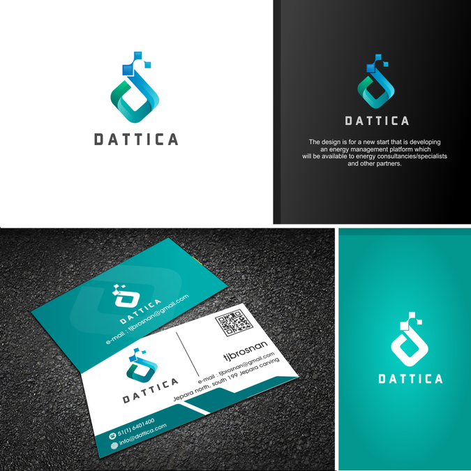 Design a brillant logo and business card for dattica an exciting design a brillant logo and business card for dattica an exciting tech startup reheart Image collections