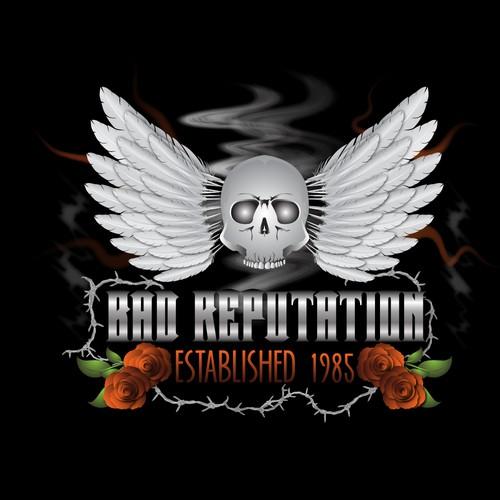 create a logo for an 80s rocknroll band logo design