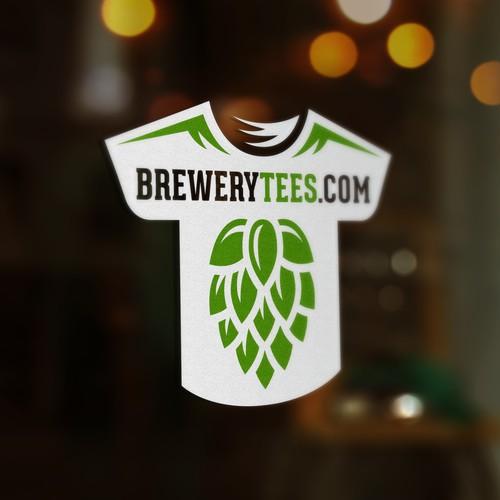 Logo design for my new site, brewerytees.com! Diseño de Boaprint