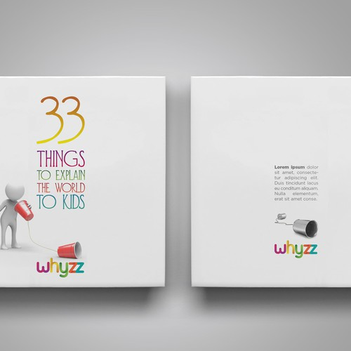 Create a book cover for - 33 Things to explain the world to kids. Design by danc
