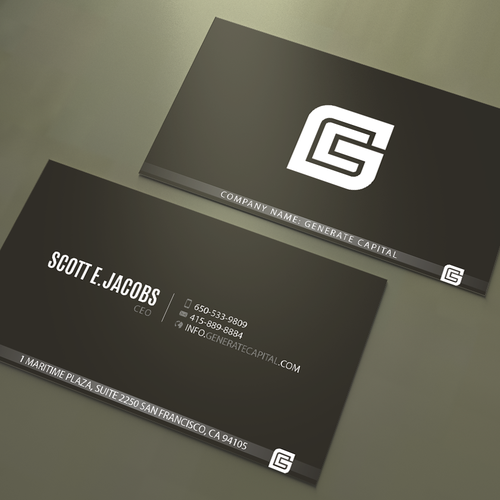 Elegant business card design for innovative investment company runner up design by an designer colourmoves