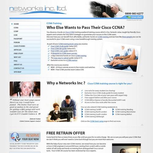 Web Site For It Training Company Web Page Design Contest 99designs
