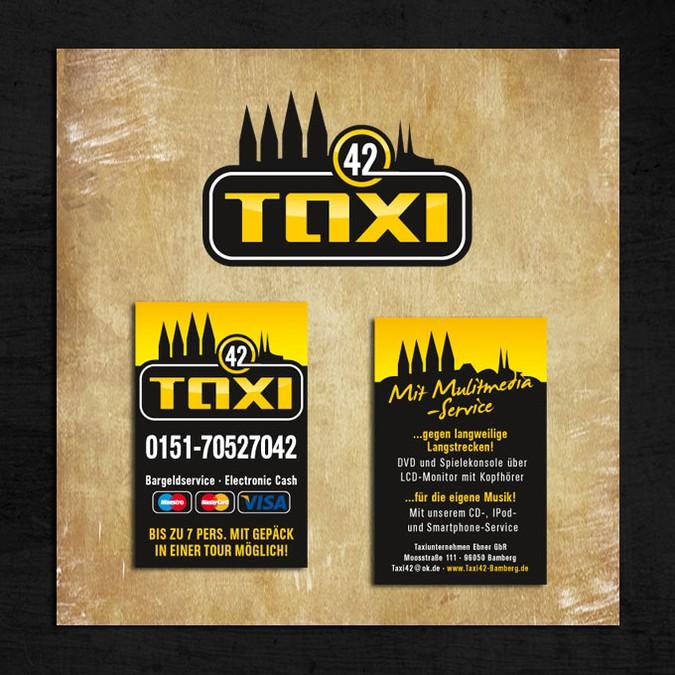 Taxi Logo Und Visitenkarten Werbepartner Harley Davidson