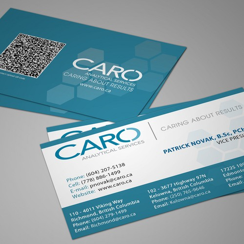Help CARO Analytical Services create new stationery