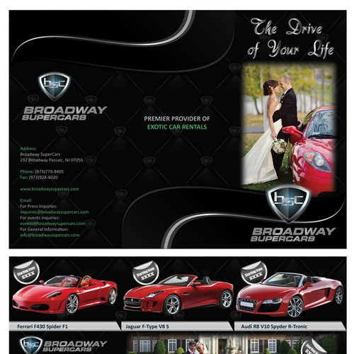 Cutting Edge Leaflet to promote Exotic Cars for Weddings Design by Lukasmarcus