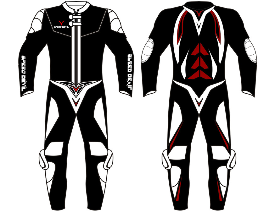 Motorbike Leather Suit In Creative Design Clothing Or