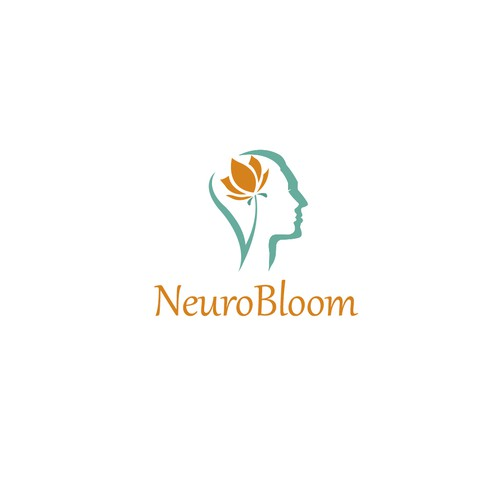 Create an elegant, brain blooming design for NeuroBloom! Design by yase