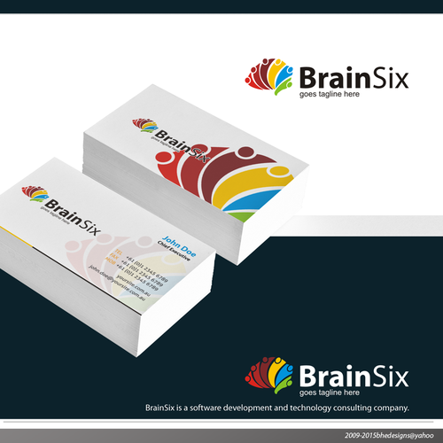 Simple, clean, professional logo for BrainSix Software