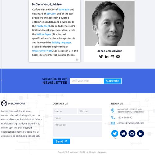 Design finalisti di Tive Webs