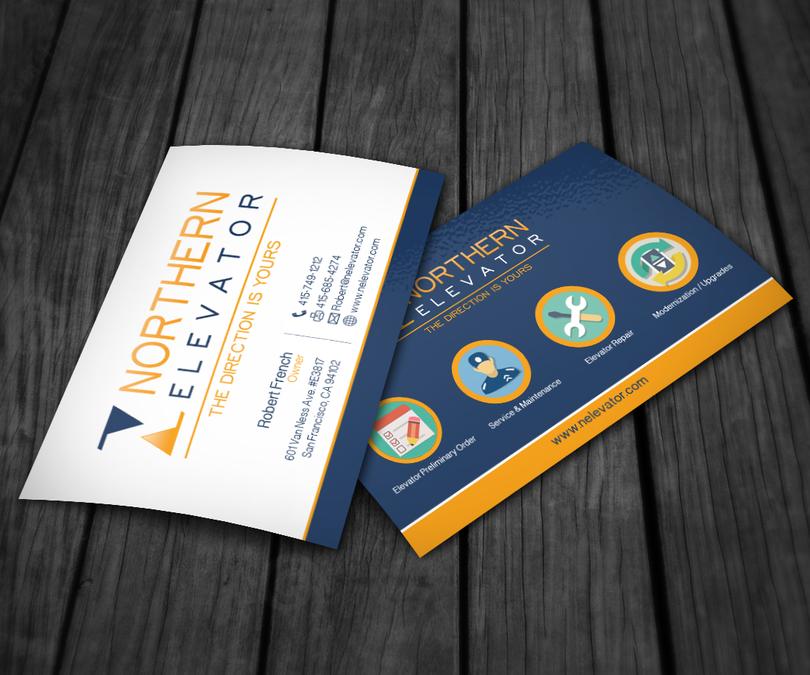 Northern Elevator Business Card Custom Design | Business card contest