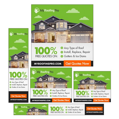 Create A Cool Banner Ad For A Roofing Company Banner Ad Contest 99designs