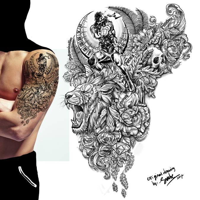 Upper Arm Half Sleeve Tattoo Designs: Upper Arm Half Sleeve Tattoo
