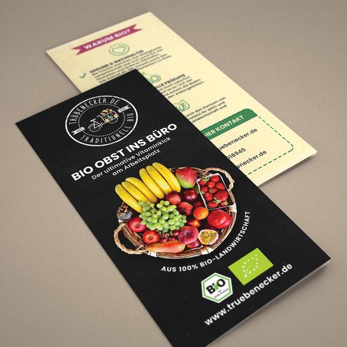 Flyer Makeover Design Für Bio Obst Lieferservice An Büros