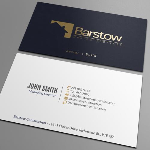 Custom bespoke home builder needs business cards business card runner up design by an designer reheart Gallery