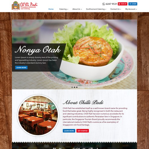 Website Design For Catering Company Web Page Design Contest
