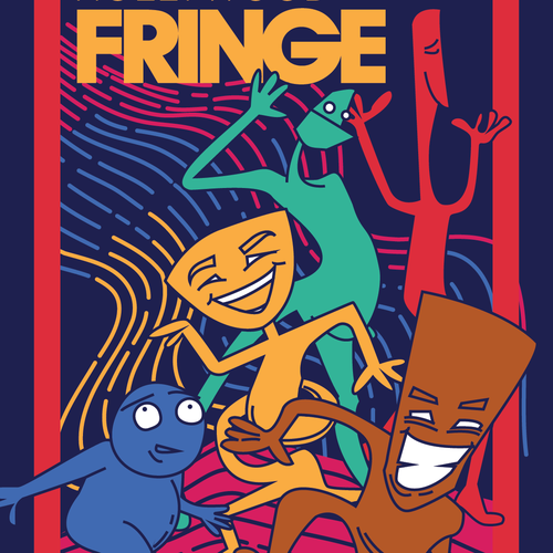 Guide Cover for the 2018 Hollywood Fringe Festival Design by Fe Melo