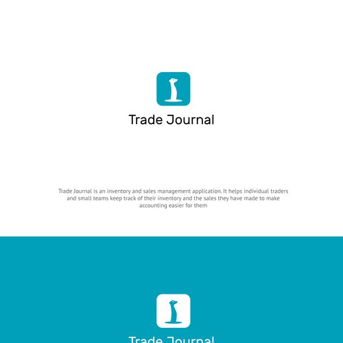 Design a playful logo for Trade Journal an inventory and sales