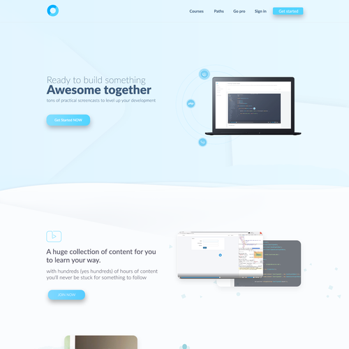 Codecourse needs an awesome new homepage Ontwerp door Shift Design