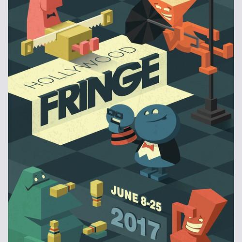 Guide Cover for the 2017 Hollywood Fringe Festival Design by gOrange