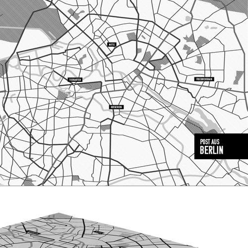 Design a city map of berlin illustration or graphics contest for Grafik design berlin