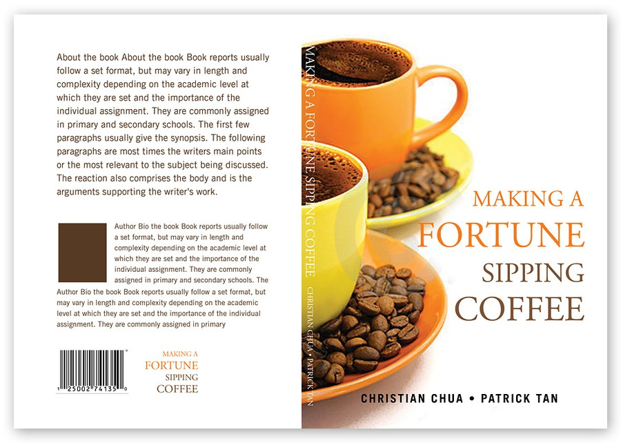 Book Cover Making Contest ~ Design of book cover making a fortune sipping coffee