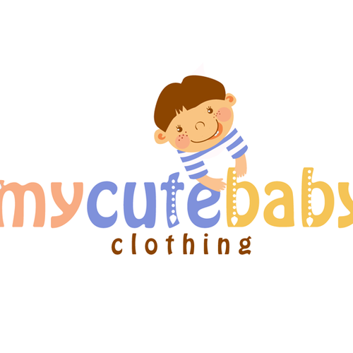 logo design for online baby clothing logo design contest. Black Bedroom Furniture Sets. Home Design Ideas