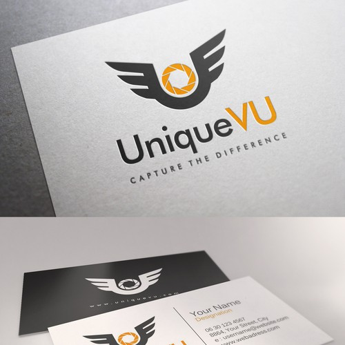 Create a unique logo and business card design for aerial photography runner up design by srd reheart Choice Image
